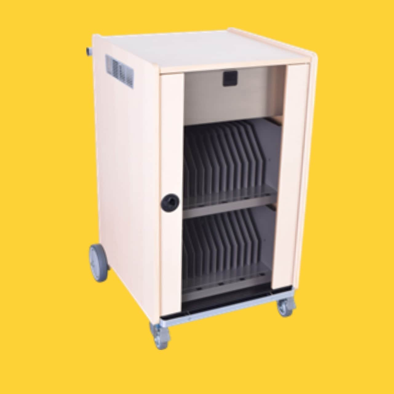 Tablet Trolley for security and daily charging of tablets in schools